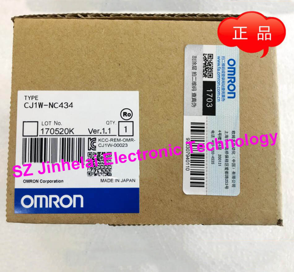 New and original CJ1W-NC434 OMRON PLC Position control unit dhl eub 2pcs original for omron new cj1w pd022 sha03 cj1wpd022 plc module 15 18