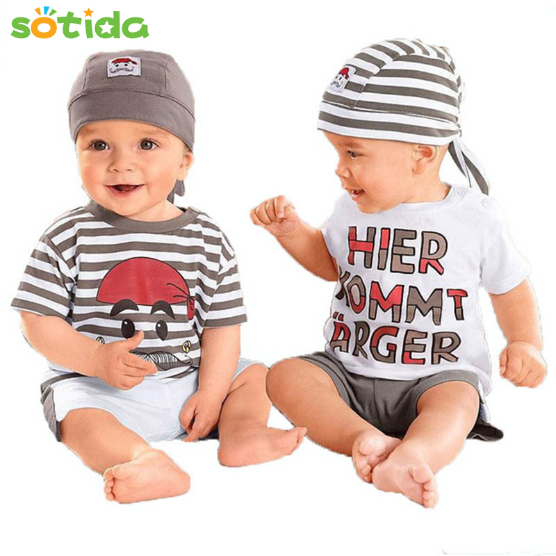 Baby clothing fashion style 2016 New baby boy clothes O-Neck short sleeve suitable for baby free shipping baby clothing