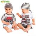 Estilo 2016 Nuevo bebé ropa de bebé ropa de moda Del O-cuello de manga corta conveniente para bebé ropa del bebé del envío