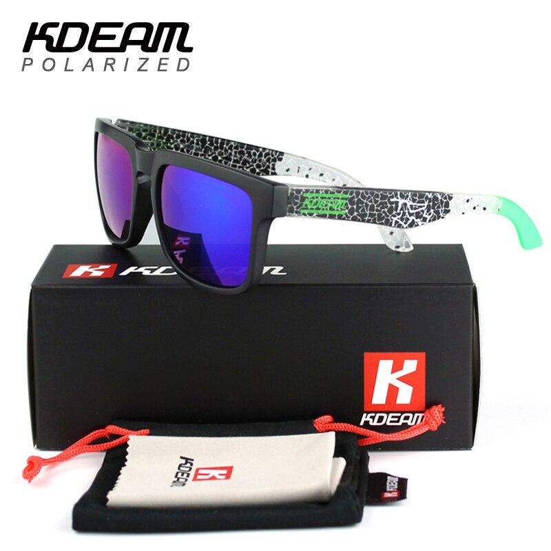 Kdeam Brand Designer Polarized Sunglasses Men Square Coating Sunglass Women UV400 Oculos De Sol Zonnebril With Original Pack