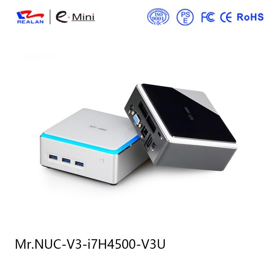 Realan Barebone Intel NUC V3 Core i7 4500U Mini pc max 8GB RAM gaming PC Network Computer Thin Client
