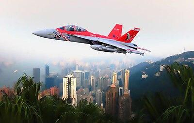 Scale SkyFlight LX RC EPS Red Metal Twin 70MM EDF F18 Bounty Hunter RTF RC Airplane W/ Brushless Motor Servos ESC Battery