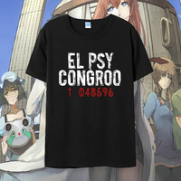 Anime Steins Gate Cosplay T Shirt Makise Kurisu T Shirt Summer Cotton Short Sleeve Men Women