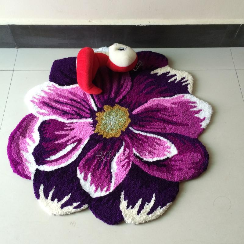 Customizable purple carpet of dahlia The bedroom of the bed to keep warm mat The stairs antiskid mat