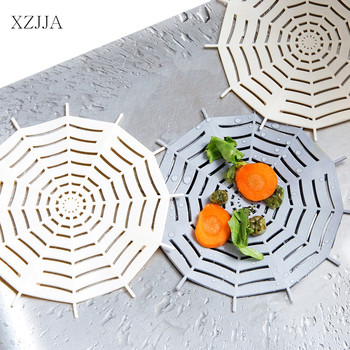 XZJJA Creative Spider Web Style Sink Strainer Bathtub Hair Catcher Trap Stopper Bathroom Shower Sewer Drains Cover Sink Filter image