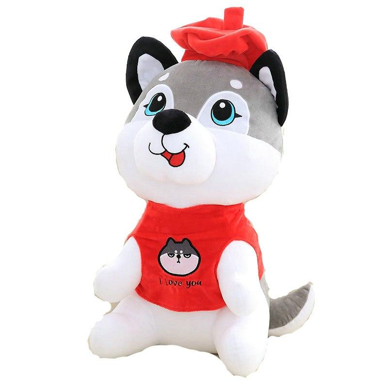 30-50 см 2018 год Китайский Зодиак собака плюшевые игрушки, сидя хаски куклы Детские подушки мягкие подушки дома украсить подарок на день рожден...