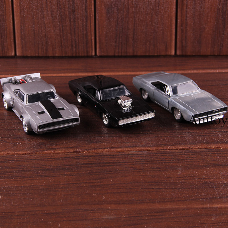 JDM Tuners Jada Toys Fast Furious Toy Car Metal Diecast Mazda RX-7 SRT8 Ice Charger Collectible Alloy Car Model Kids Toys Gift