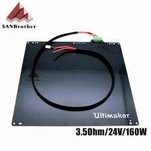 3d принтер UM2 Ultimaker 2 Расширенный + UM2 + Печатный стол с подогревом Детали кровати 24 V 3.5Ohm алюминиевый сплав UM2 кровать с подогревом