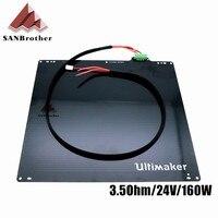 UM2 מדפסת 3D Ultimaker 2 מורחב + שולחן UM2 + הדפסה חלקי מיטה מחוממת 24 V 3.5Ohm סגסוגת אלומיניום UM2 מיטה מחוממת צלחת