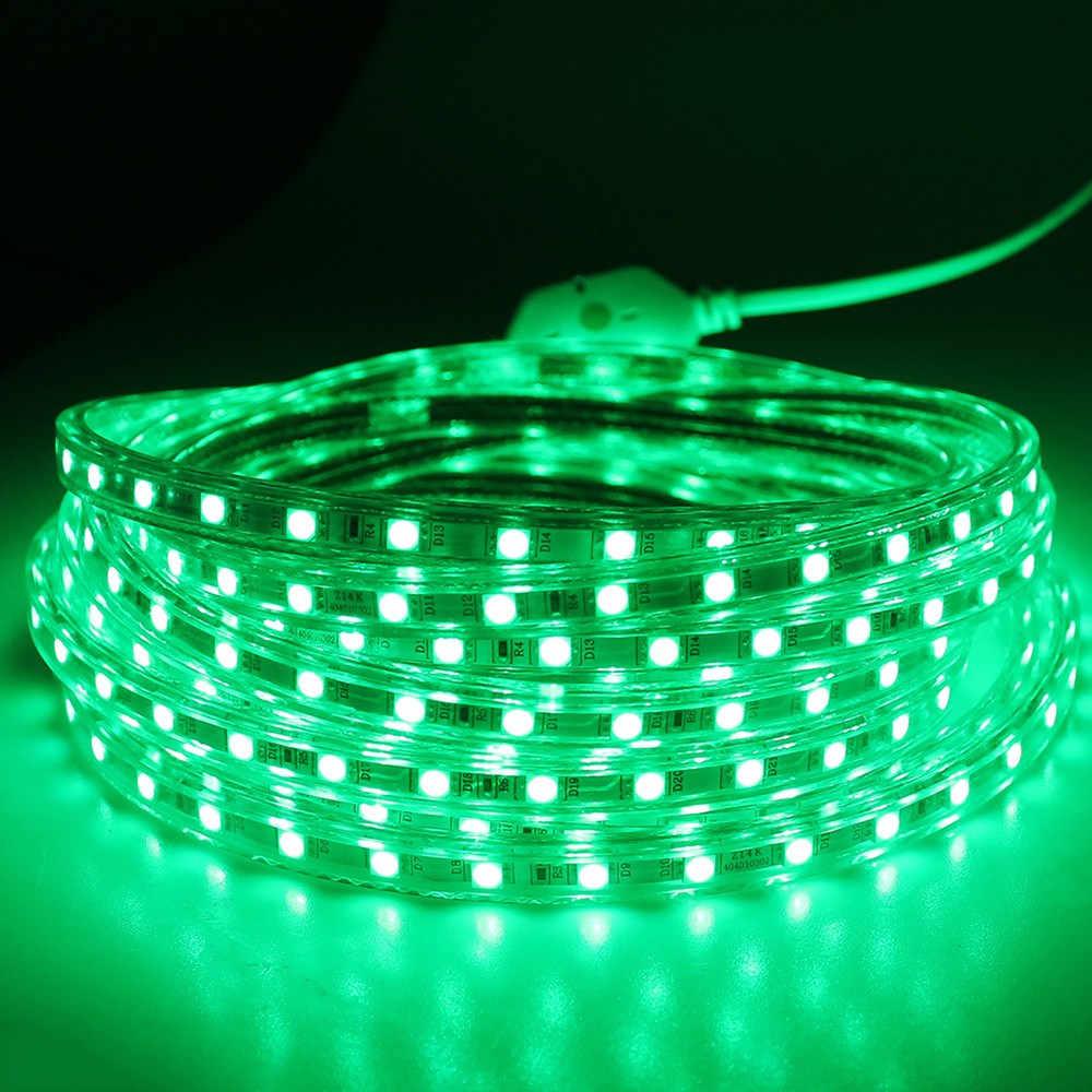 AC220V SMD 2835 120 LEDS/M esnek Led şerit ışık silikon tüp su geçirmez Led şerit bant 1 M/2 m/3 M ~ 20M + ab priz