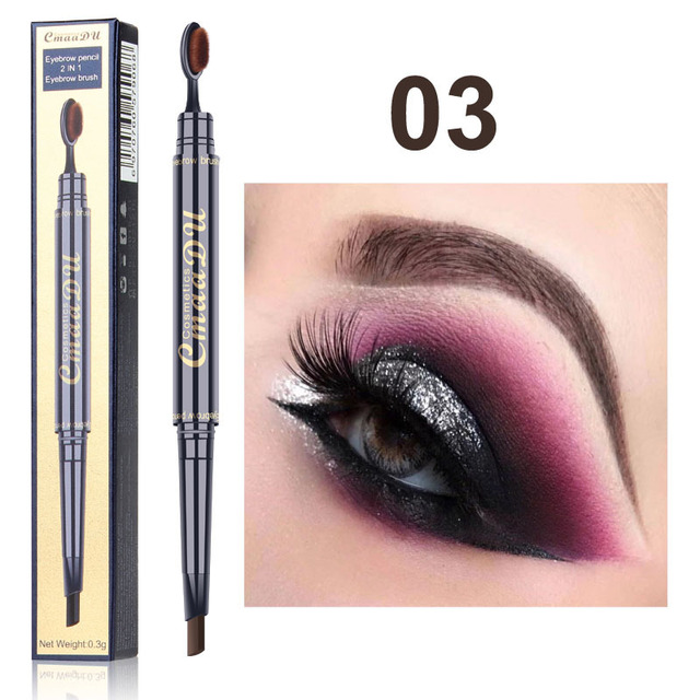 2 IN 1 Eyebrow Maquiagem Profissional Completa Double-head Pencil for Eyes Durable Waterproof Not Flowering Easy To Color TSLM1 4