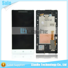 Fast Delivery For HTC Windows Phone 8S LCD Display Assembly with Touch Screen Digitizer  with frame-White free shipping