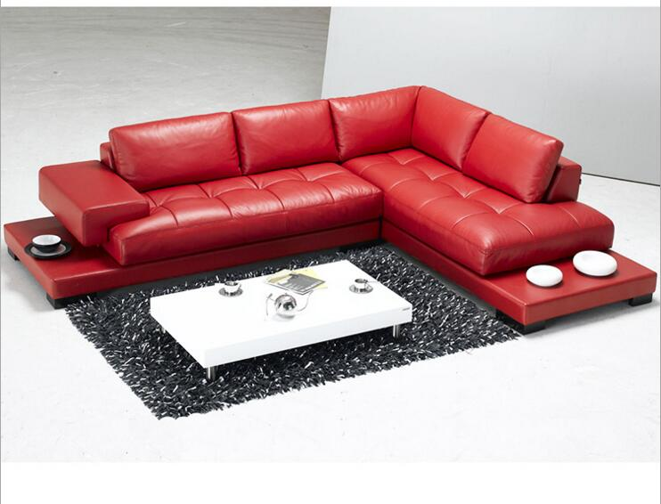 Modern Style Living Room Genuine Leather Sofa A1285