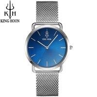 KING HOON Gold Watch Women Watches Fashion Casual Quartz watch Female Steel Bracelet Luxury WristWatch Reloj Muje Montre Femme
