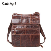 321605c682809 Cobbler Legend 2018 Top Cow Genuine Leather Casual Shoulder Men Messenger  Bags For Men Versatile Soild