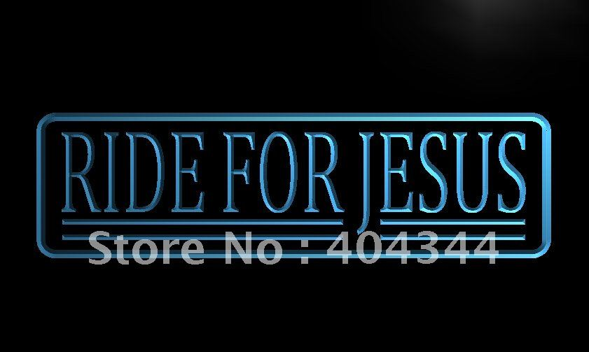 LB501- Ride for Jesus Display LED Neon Light Sign