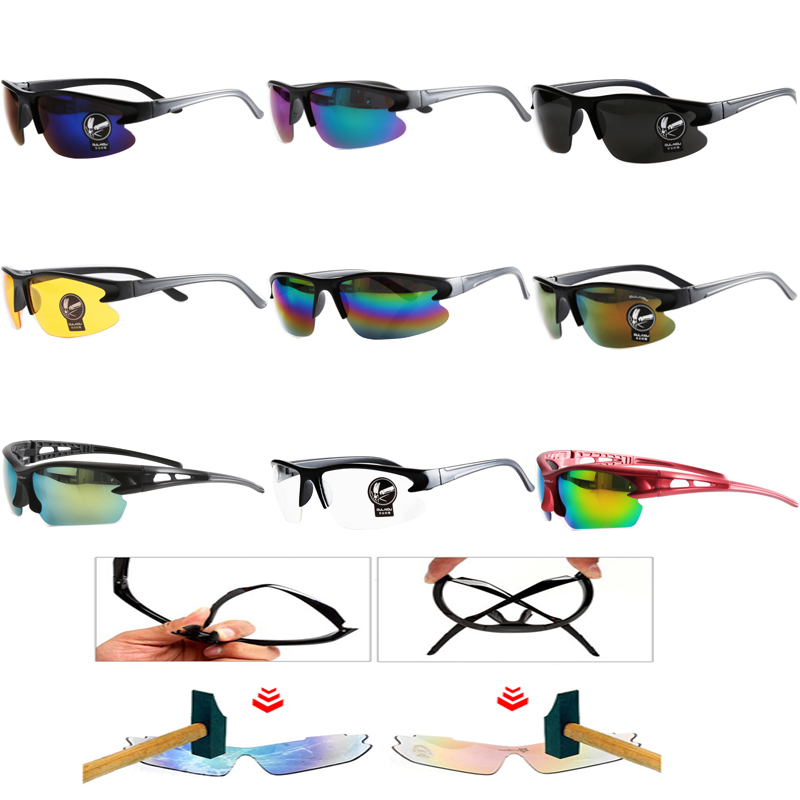 Cycling Sunglasses UV400 Eyewear Goggle Sunglasses Safety Men Women Bike Bicycle Outdoor Sport Windproof Eye Movement Glasses