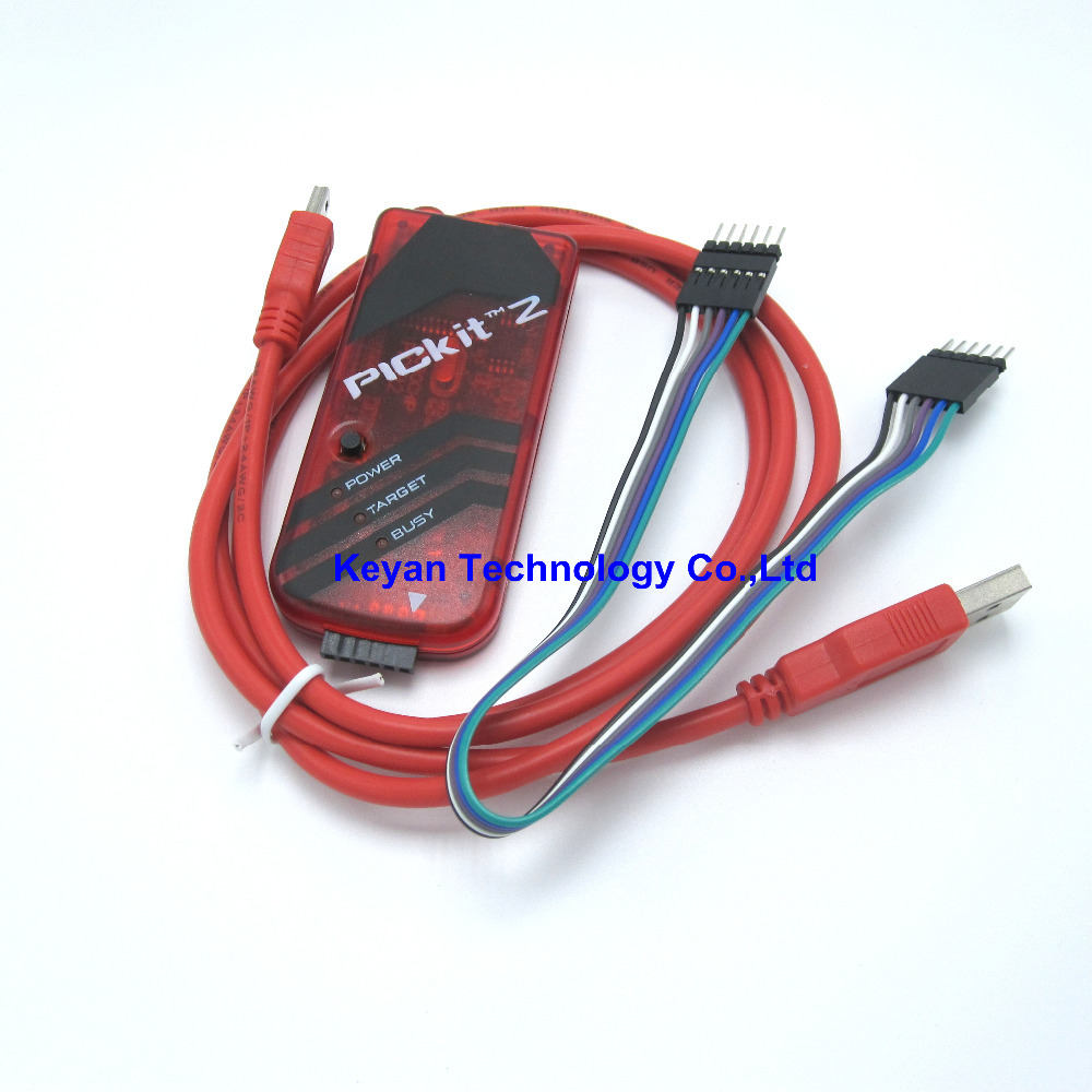 PICKIT2 PIC Kit2 Simulator PICKit 2 Programmer Emluator Red Color w/USB cable Dupond WirePICKIT2 PIC Kit2 Simulator PICKit 2 Programmer Emluator Red Color w/USB cable Dupond Wire