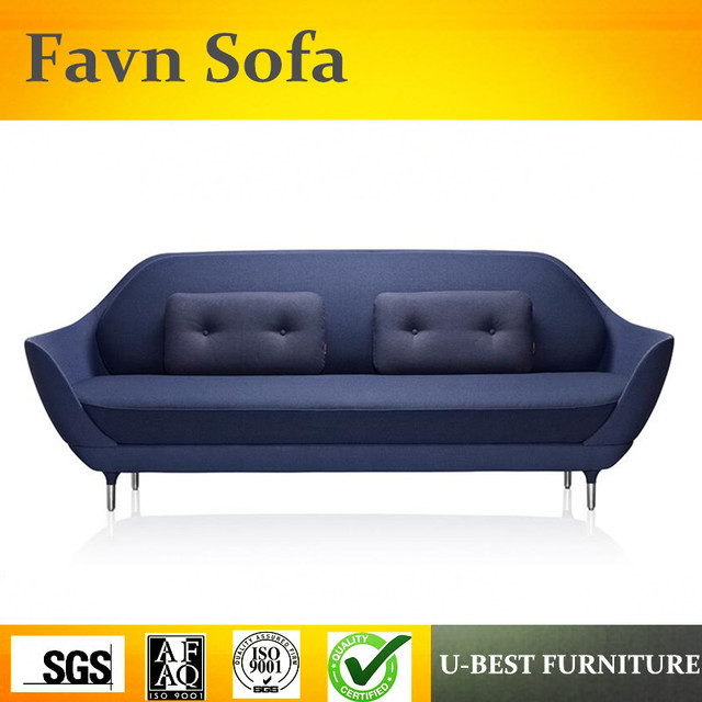 U Best Replica Designer Furniture Grey Textile Upholstery 3 Seater Favn Sofa With Loose Cushions