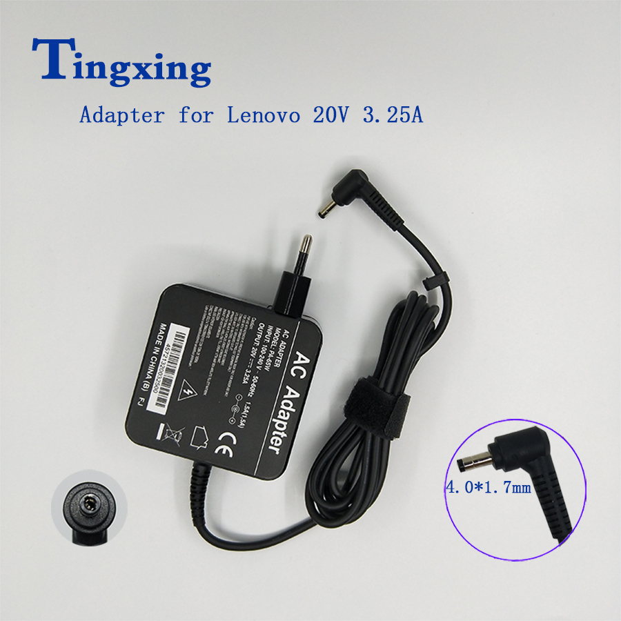 <font><b>20V</b></font> 3.25A 65W 4.0*1.7mm ADLX65CDGE2A <font><b>AC</b></font> <font><b>Adapter</b></font> Charger For LENOVO ideapad/YOGA 100 310 710 510 5A10K78753 01FR142 Power Supply image