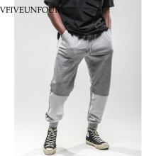 купить VFIVEUNFOUR 2019 New Arrivals Color Block Patchwork Hip Hop Fashion Men Pants Casual Harem Jogger Elastic Waist SweatPants по цене 1900.09 рублей
