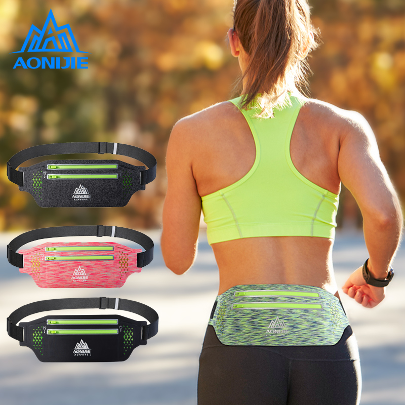 Relojes Y Joyas Beautiful Aonijie W922 Adjustable Slim Running Waist Belt Jogging Bag Fanny Pack Travel Marathon Gym Workout Fitness 6.8-in Phone Holder Good Taste