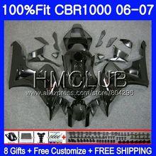 Инъекций наличии черный корпус для HONDA CBR 1000 RR 06 07 CBR 1000RR 71HM. 1 CBR1000RR 06 07 CBR1000 RR 2006 2007 OEM обтекатель комплект