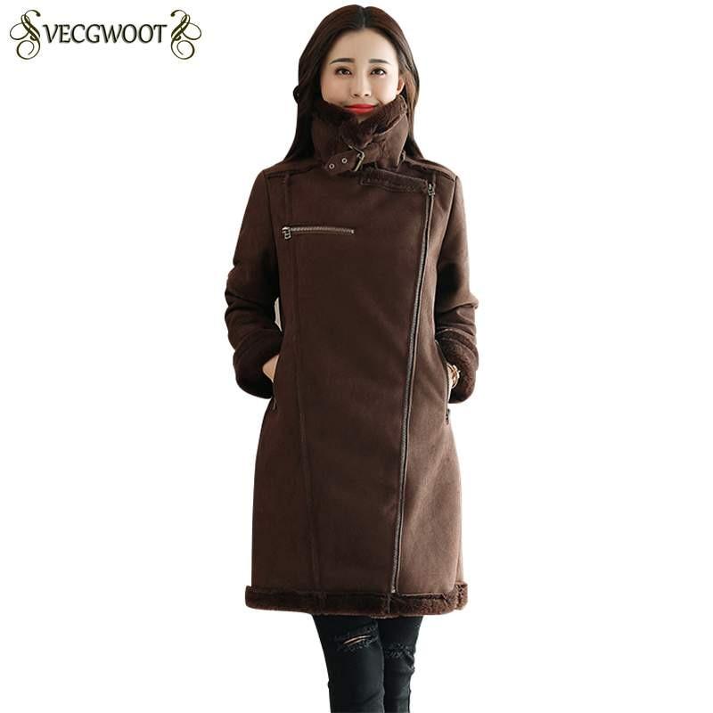 Color Chaud Nouveau 2019 Veste Parkas Coffee Pr380 Manteau Moyen Mode Coréenne Survêtement Long Épais Hiver Femmes Dames khaki Coton Slim Xfp88Uwq