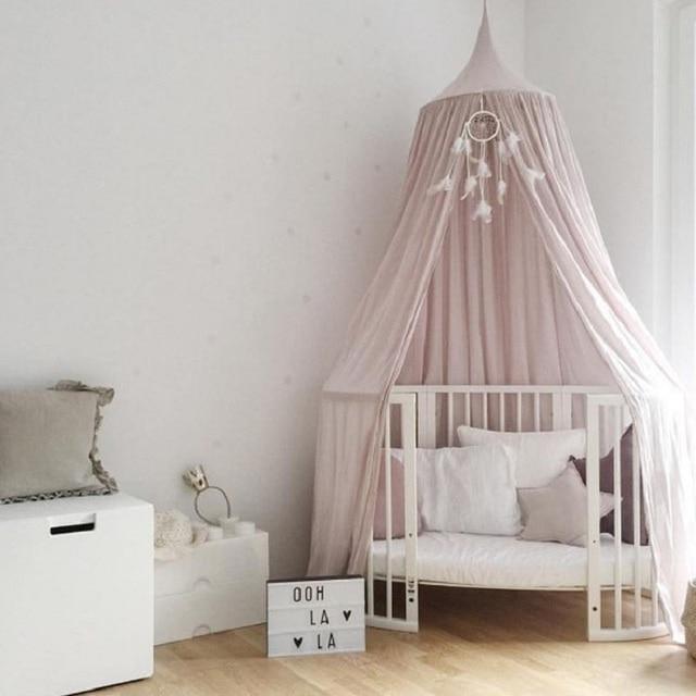 rideaux couvre lit 240 CM Coton Kid Literie Ronde Dôme Lit à Baldaquin Couvre lit  rideaux couvre lit