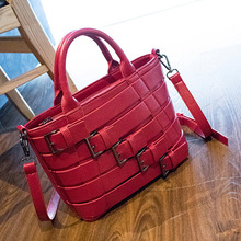 HANSOMFY Spring And Summer Fashion Models Personalized Simple Wild Retro Buckets Handbag Shouldbag Messenger Bag