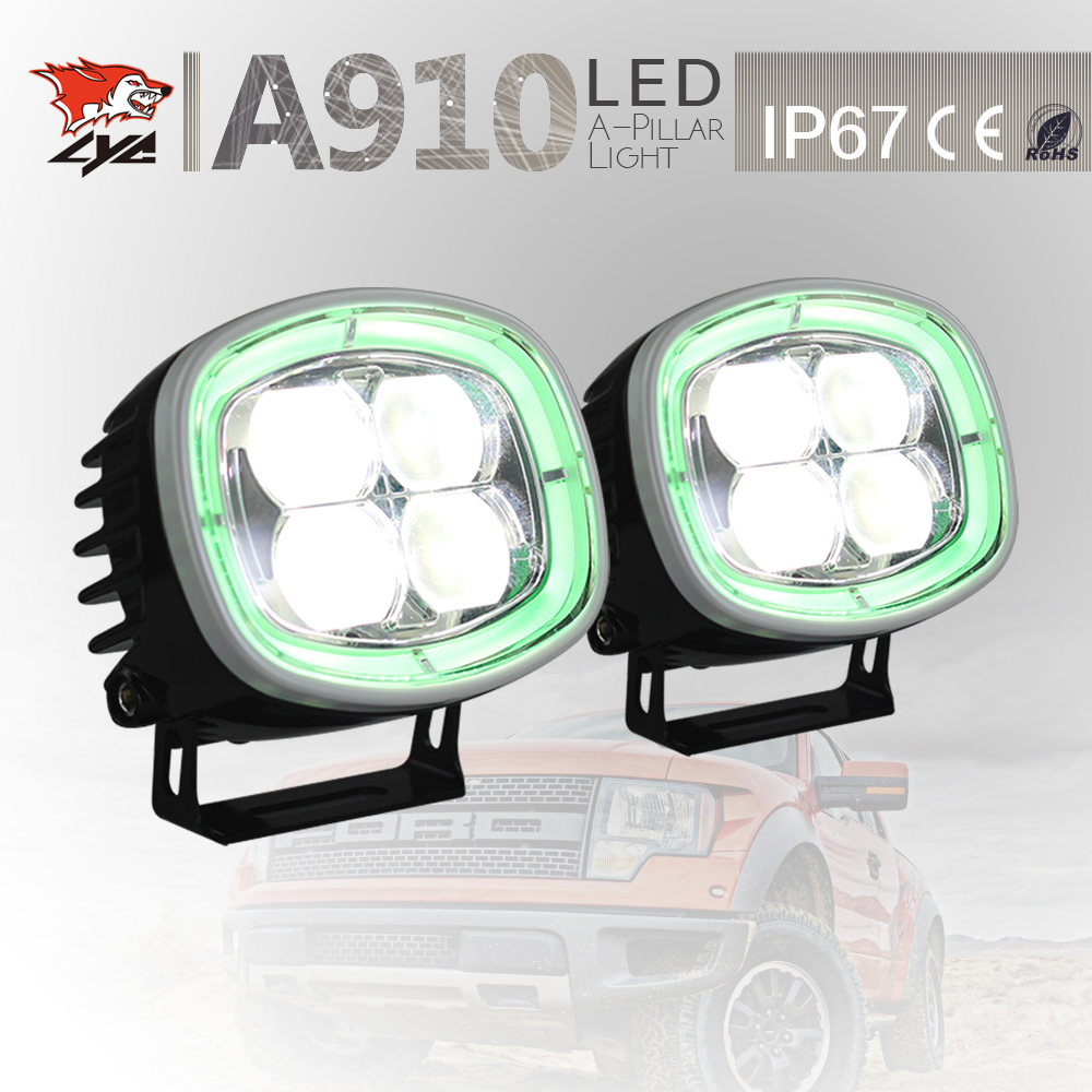 LYC One Set Definition of Daytime Running Lights 4x4 Driving Spotlights for Jeep Wrangler Light Car Auto Parts Led Lights lyc price for one set best led driving lights cars led lamp first car with led headlights driving with daylight running headlamp