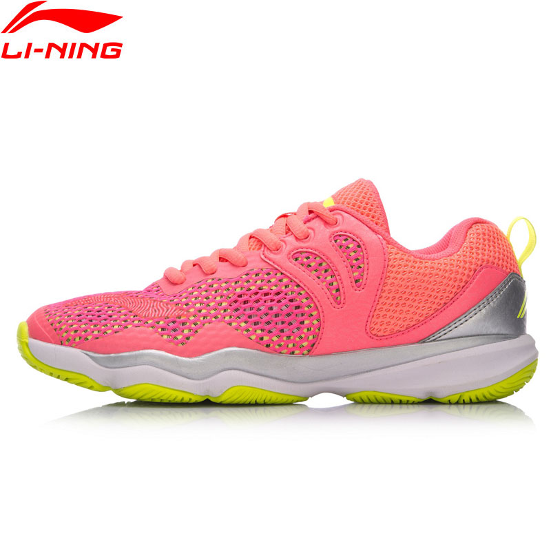 Li Ning Women RANGER II LITE TD Professional Badminton Shoes Wearable Anti Slippery LiNing Sports Shoes
