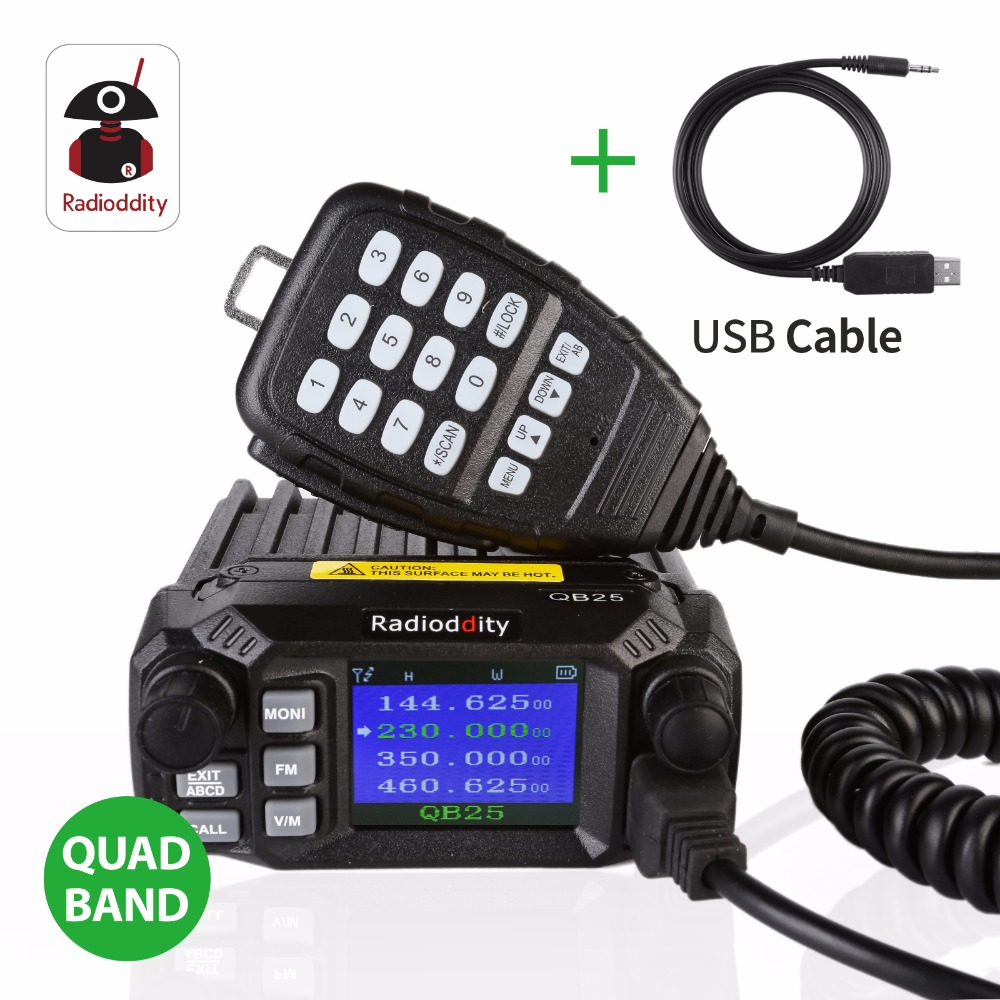 QYT 980 PLUS 75 Watt VHF 55 Watt UHF Dual Band Quad Standby Bunte ...