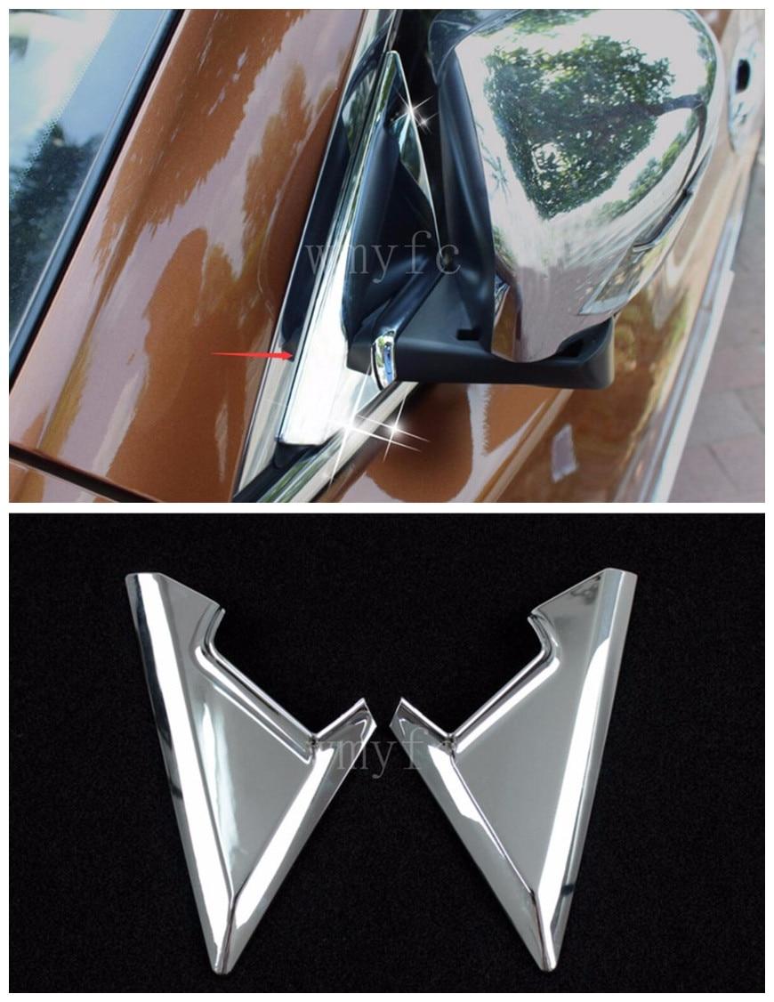 For Nissan X Trail X-trail T32 2014- 2016 Front A-pillar Mirror Bracket Trim Frame Cover Decorative ABS Chrome Car Accessories