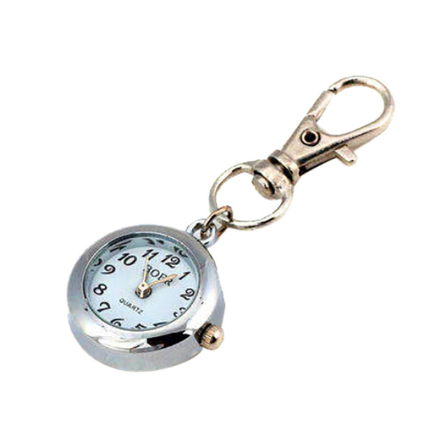 Classic Fashionable Watch Men Women Round Metal Keychain Watch Nurse Watch Child