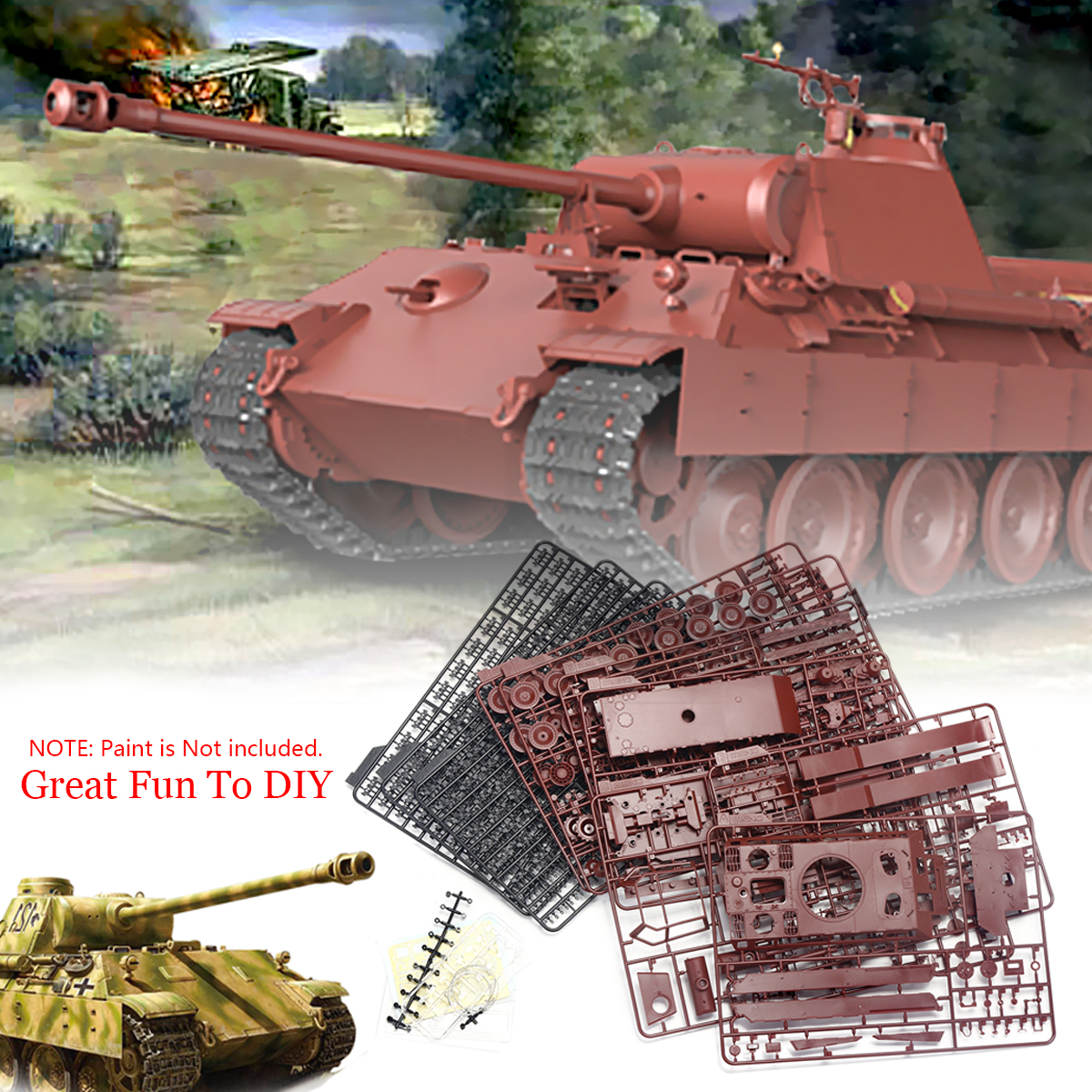 DIY Toy Kit For Meng TS 035 Sd.Kfz.171 Panther Ausf.A Late WWII Military Tank Model Building Kits Creation 1:35 Great Fun