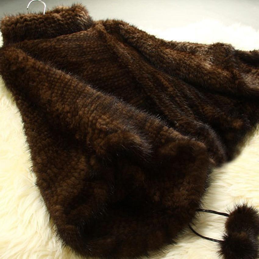 Femmes Vison Vêtement Survêtement Nature Manteau coffee D'hiver Poncho 2018 24 2 Nouveautés Black De Naturel Fourrure Veste Chewies Knit dIxwqPfBd