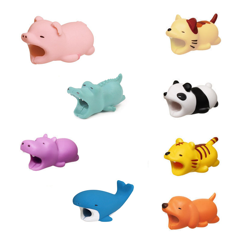 Cute Animal Bite Anti-Break USB Data Cable Protector Universal Cable Winder Saver For IPhone Samsung Charger Cable Cord Cover