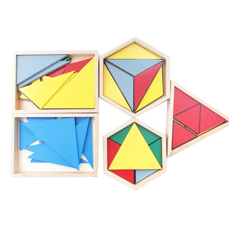 Montessori Matériaux Sensoriels Triangle Montessori Éducatifs Jouets D'apprentissage pour Les Tout-petits Enfants Juguetes Brinquedos MG1244H