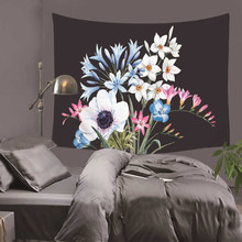 Beautiful Flowers wall hanging Tapestry Ornate Pattern Colorful Plant Sunflower Classic Family Living Room Decorative Blanket