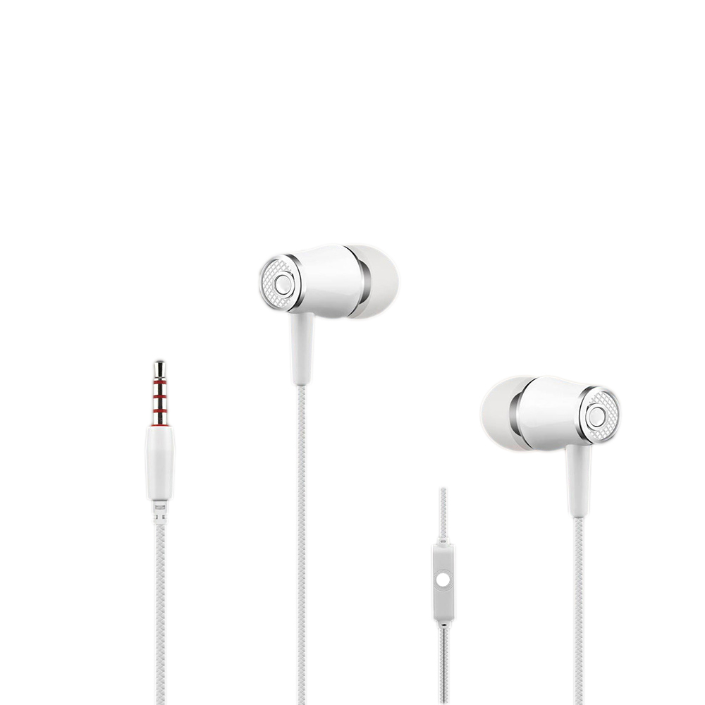 10pcs xunbeifang manufacturers wholesale 3.5MM interface in-ear mobile phone earphone with Mic for i-Phon Android smart phone
