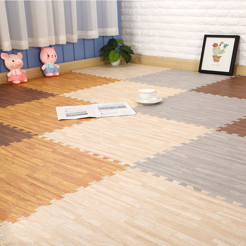 Wood Grain Foam Mat Children's Mosaic Crawling Mat Home Bedroom Tatami Shop Living Room Baby Thickening Climbing Mat