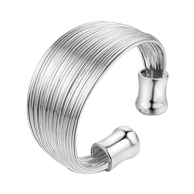 filaments adjustable Wholesale 925 jewelry silver plated ring ,fashion jewelry R