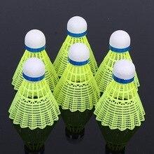6 шт. супер прочный светильник, пластиковый тренировочный мяч для бадминтона, пластиковый шаттл, пробковая деревянная шаровая Головка