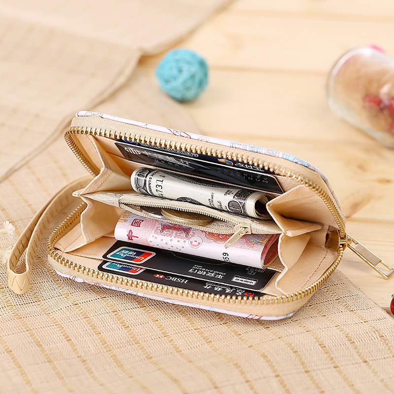 Women Wallets Zipper Lady Purses Cards Holder Short Coin Purse Eiffel Tower Pattern Wtistlet Handbags Money Bag New Woman Wallet