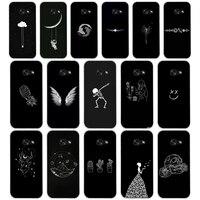 264AQ Lijn Art Gezicht Abstract Patroon Zachte Siliconen Tpu Cover Phone Case Voor Samsung Galaxy A3 A5 2016 2017 A6 A8 2018