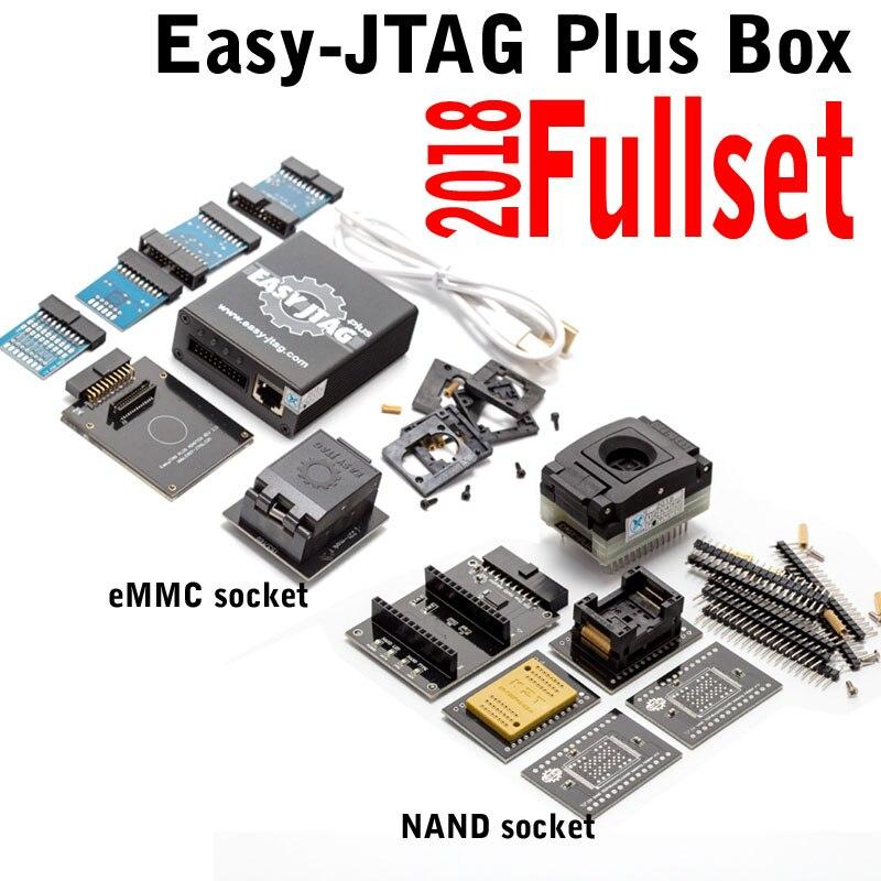 Ensemble complet facile Jtag plus boîte facile-Jtag plus + EMMC socket + NAND Socket pour Iphone/HTC/Huawei/LG/Motorola/Samsung/SONY/ZTE