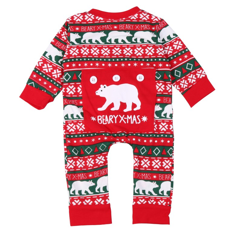 Baby Jumpsuit Christmas   Rompers   Cotton Polyester Kids Knitting Wool Warm Clothes Set Autumn Winter