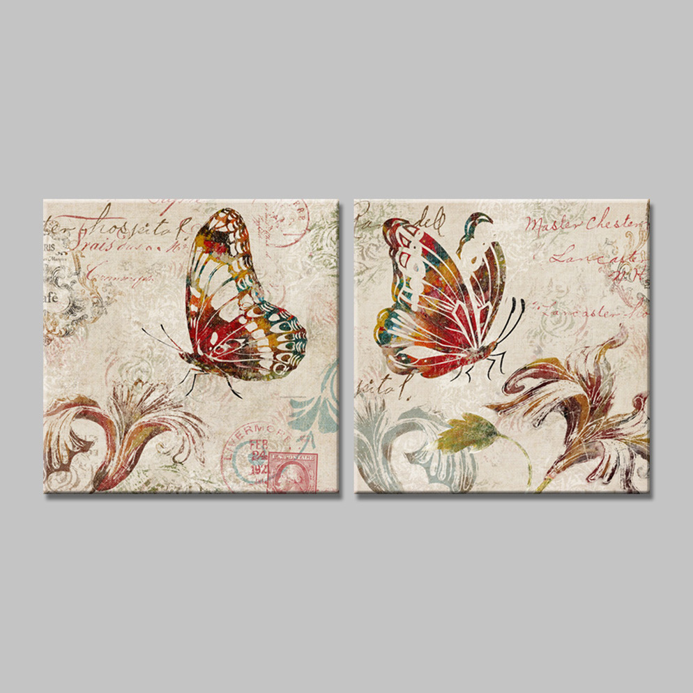 cuadros butterfly canvas art painting Prints on the wall pictures - Home Decor