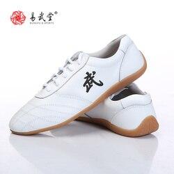 Yiwutang Martial arts Kung Fu Leather Shoes Tai chi Taolu Shoes Wushu shoes Rubber Soles for Men Women Children  Sneakers